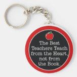 corazón de los profesores llaveros personalizados