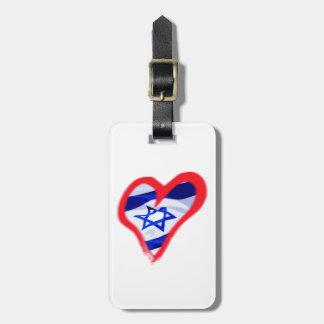 Corazón de Luv Israel Etiquetas Maleta