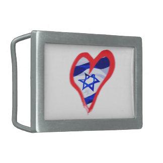 Corazón de Luv Israel Hebilla De Cinturon Rectangular