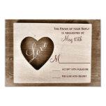 Corazón de madera del amor del granero rústico del anuncio personalizado