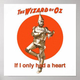 Corazón de mago de Oz Tinman Póster