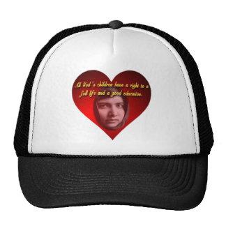 Corazón de Malala Gorras