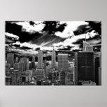 Corazón de Manhattan - plaza de 30 Rockefeller Poster