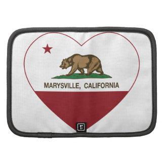 corazón de marysville de la bandera de California Organizador