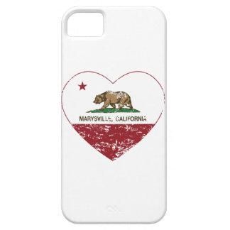 corazón de marysville de la bandera de California Funda Para iPhone 5 Barely There