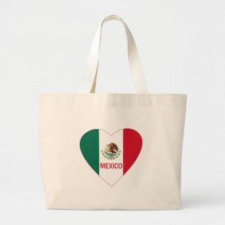 Corazón de México Bolsa Lienzo