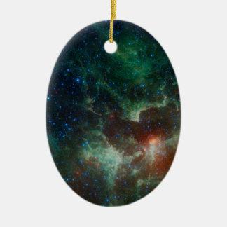 Corazón de NASAs y nebulosa del alma Adorno Ovalado De Cerámica