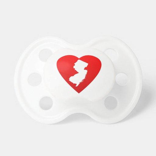 Corazón de New Jersey Chupetes De Bebé