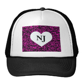 Corazón de New Jersey Gorros Bordados