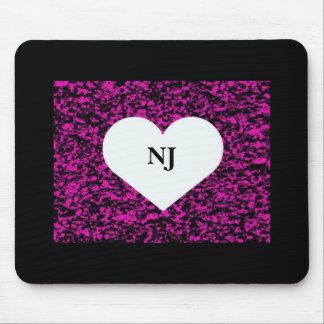 Corazón de New Jersey Tapete De Ratones