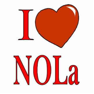 Corazón de New Orleans del amor Fotoescultura Vertical