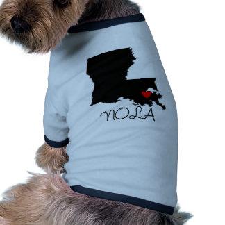 Corazón de NOLA Camisetas De Mascota