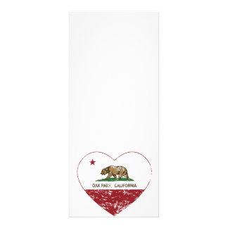 corazón de Oak Park de la bandera de California ap Invitacion Personal