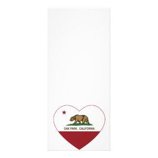 corazón de Oak Park de la bandera de California Anuncios