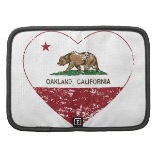 corazón de Oakland de la bandera de California ape Organizadores