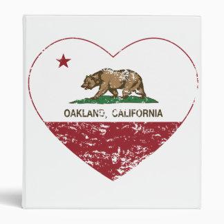 """corazón de Oakland de la bandera de California Carpeta 1"""""""