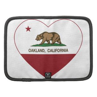 corazón de Oakland de la bandera de California Planificador