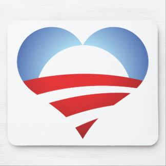 Corazón de Obama Alfombrillas De Ratones