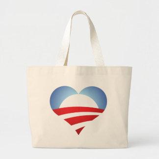 Corazón de Obama Bolsa Tela Grande