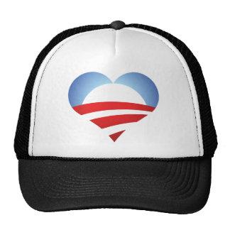 Corazón de Obama Gorras De Camionero