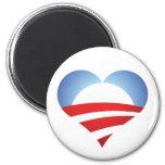 Corazón de Obama Imán De Frigorifico
