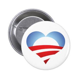 Corazón de Obama Pins