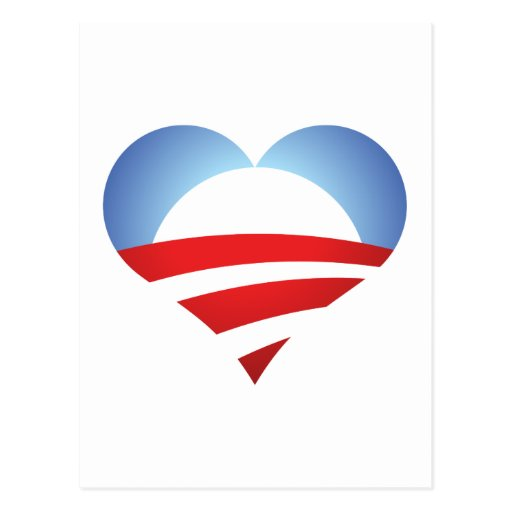 Corazón de Obama Postal
