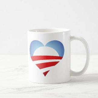 Corazón de Obama Taza