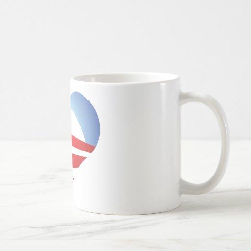 Corazón de Obama Taza De Café