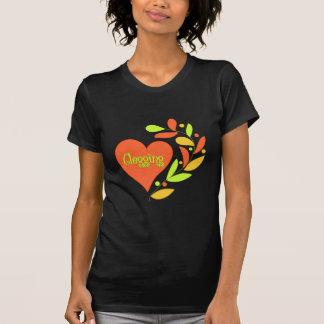 Corazón de obstrucción camisetas
