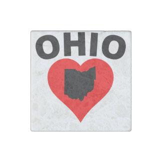 Corazón de Ohio Imán De Piedra