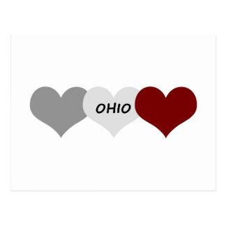 Corazón de Ohio Tarjetas Postales