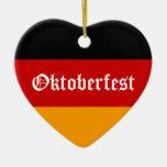 Corazón de Oktoberfest Adorno De Navidad