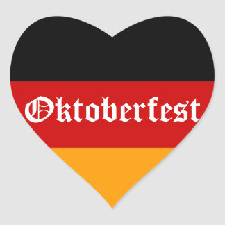 Corazón de Oktoberfest Calcomanía Corazón