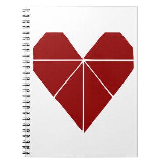 Corazón de Origami Note Book