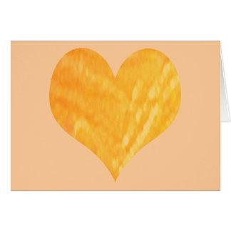 Corazón de oro de la sol felicitacion