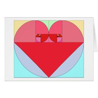 Corazón de oro del coeficiente tarjeta de felicitación