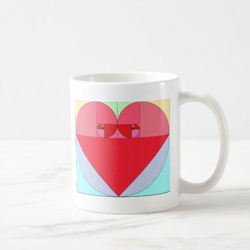 Corazón de oro del coeficiente taza básica blanca