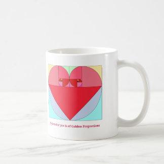 Corazón de oro del coeficiente taza clásica