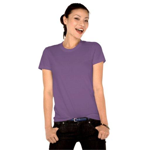 Corazón de oro en púrpura camisetas