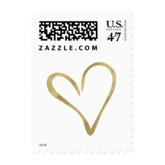 Corazón de oro estampillas