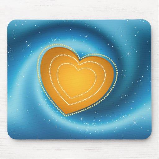 Corazón de oro Mousepad Alfombrilla De Ratones