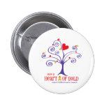 Corazón de oro para el cáncer de la niñez pins
