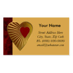 Corazón de oro plantillas de tarjeta de negocio