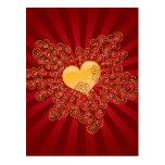 Corazón de oro postal