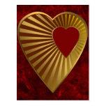 Corazón de oro postales