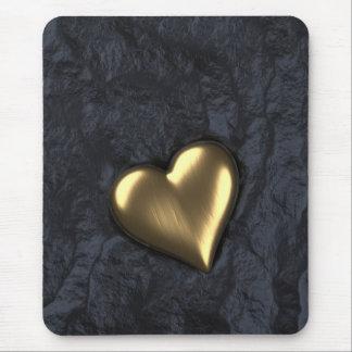 Corazón de oro tapetes de ratones