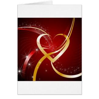 Corazón de oro tarjeta de felicitación