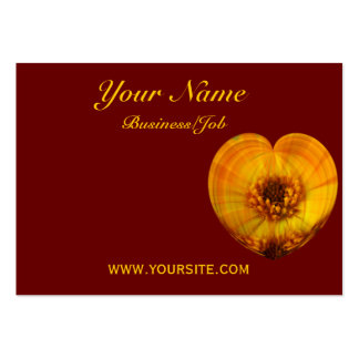 Corazón de oro tarjeta de visita