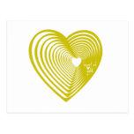 Corazón de oro tarjeta postal